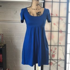 Simple Blue Dress with Pockets.